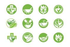 Icona o insieme medica di logo Fotografia Stock Libera da Diritti