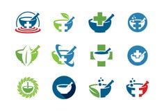 Icona o insieme medica di logo Fotografie Stock