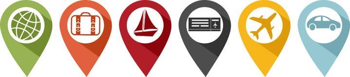 Icona o perno per trasporto o la vacanza illustrazione di stock