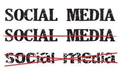 Icona o segno antisociale di media Immagine Stock Libera da Diritti
