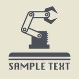 Icona o segno della mano del robot Fotografie Stock