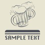 Icona o segno di vetro di birra royalty illustrazione gratis