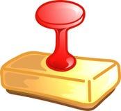 Icona o simbolo del timbro di gomma Fotografie Stock