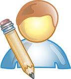 Icona o simbolo dell'autore Fotografia Stock Libera da Diritti