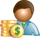 Icona o simbolo di carriera del banchiere Immagine Stock