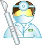 Icona o simbolo di carriera del chirurgo Fotografia Stock Libera da Diritti