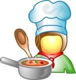 Icona o simbolo di carriera del cuoco unico Immagine Stock