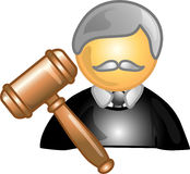 Icona o simbolo di carriera del giudice Immagine Stock