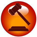 Icona o tasto del martelletto Immagine Stock Libera da Diritti