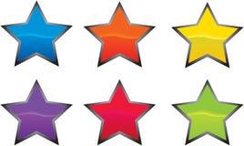 Icona o tasto della stella Immagini Stock