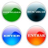 Icona o tasto di Web Fotografia Stock