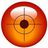 Icona o tasto di Web dell'obiettivo Fotografia Stock