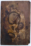 Icona ortodossa molto vecchia Immagine Stock