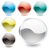 Icona ovale di lustro illustrazione di stock
