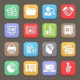 Icona per il web, cellulare di finanza e di affari Vettore Fotografie Stock Libere da Diritti