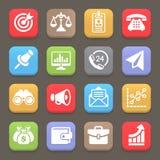 Icona per il web, cellulare di finanza e di affari Vettore Fotografia Stock Libera da Diritti