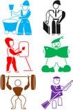 Icona per l'impiegato immagini stock libere da diritti
