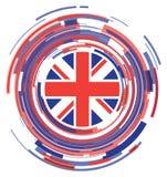 Icona piana britannica della bandiera Fotografia Stock