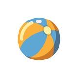 Icona piana del beach ball Immagini Stock