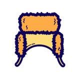 Icona piana del beanie di colore Fotografia Stock