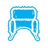 Icona piana del beanie di colore Immagini Stock Libere da Diritti