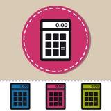 Icona piana del calcolatore - illustrazione variopinta di vettore - isolata su bianco Immagini Stock