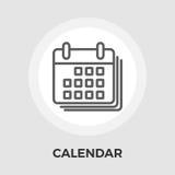 Icona piana del calendario royalty illustrazione gratis