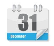 Icona piana del calendario per il vettore di applicazioni Fotografia Stock