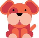 Icona piana del cane di progettazione immagini stock