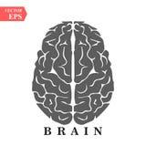 Icona piana del cervello, di mente o di intelligenza per i apps ed i siti Web illustrazione vettoriale