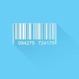 Icona piana del codice a barre Fotografie Stock