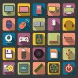 Icona piana del computer Fotografia Stock