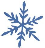Icona piana del fiocco di neve blu su fondo bianco royalty illustrazione gratis