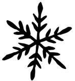 Icona piana del fiocco di neve nero su fondo bianco royalty illustrazione gratis