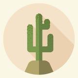 Icona piana del saguaro di progettazione Fotografia Stock Libera da Diritti