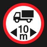 Icona piana del veicolo del segno massimo di lunghezza Fotografie Stock Libere da Diritti