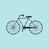 Icona piana della bicicletta Immagine Stock Libera da Diritti