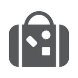 Icona piana della borsa per viaggiare Fotografia Stock