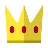Icona piana della corona di re, segno di vettore illustrazione vettoriale