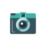 Icona piana della mini macchina fotografica Immagine Stock Libera da Diritti