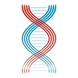 Icona piana della molecola e del DNA illustrazione di stock
