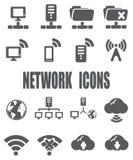 Icona piana della rete messa - ENV 10 royalty illustrazione gratis