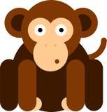 Icona piana della scimmia di progettazione fotografie stock libere da diritti