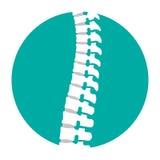 Icona piana della spina dorsale per la terapia ortopedica, centro diagnostico royalty illustrazione gratis