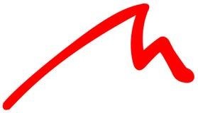 Icona piana delle montagne rosse su fondo bianco illustrazione di stock