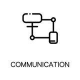 Icona piana di comunicazione Fotografie Stock