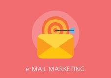 Icona piana di concetto di vendita del email Immagini Stock
