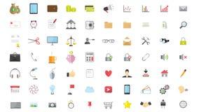 Icona piana di Internet di web del telefono Immagine Stock