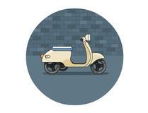 Icona piana di vettore del motorino Immagini Stock