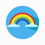 Icona piana di vettore dell'arcobaleno Fotografie Stock